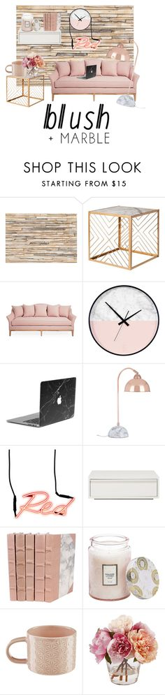 """Blush - marble"" by knockstyles on Polyvore featuring interior, interiors, interior design, home, home decor, interior decorating, Brewster Home Fashions, Nate Berkus, Seletti and Voluspa"