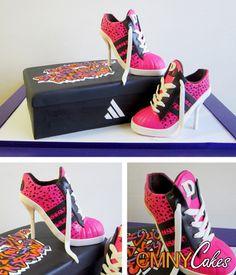 Pink High Heeled Sneaker Cake - CMNY Cakes