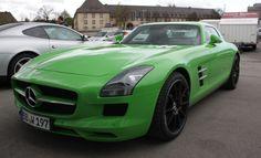A little custom paint never hurt anyone! Nice wheels, too. #mercedes #benz  #green