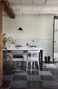 """This dining area is from our feature """"Work in Progress"""""""