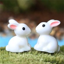 New 2016 New Hot Mini Rabbit Ornament Miniature Figurine Plant Pot Fairy Garden Decor Home Decoration 2pcs(China (Mainland))