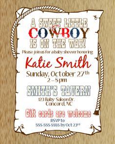 Western baby shower invitation cowboy baby shower western shower cowboy baby shower invitation i filmwisefo