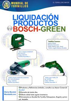Aprovecha la #liquidación ,  #Bosch Green! en  @MundialDT Bosch