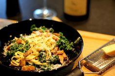 Sensommermad: Pasta med grønkål og masser af bacon