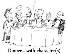 Library Fundraiser - Dinner with Characters. Pick which of the 7 books you want to dress up in character for, and head to that house for a themed dinner. You never know who you'll be seated next to.