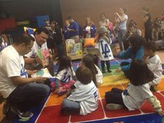 Day Two on the #Dodgers caravan: Story time with Fernando Valenzuela at Southeast YMCA in Huntington Park