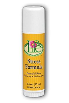 Living Flower Essences Stress Formula Balm Peaceful Rose 05 Ounce ** More info could be found at the image url. Note: It's an affiliate link to Amazon.