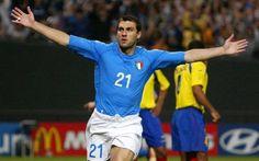 Christian Vieri del Inter de Milan y de la Seleccion Italiana.