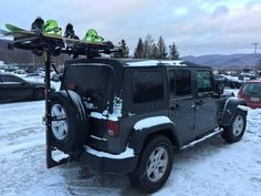 Mission Systems LLC — Snowboarding adventures with your Jeep and Hitchmount-Rack