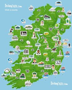 Map of Ireland's Places to See