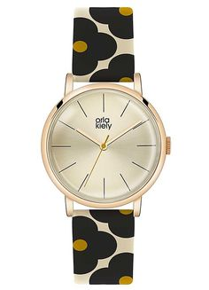 Ladies Floral Patterned Strap Watch by Orla Kiely