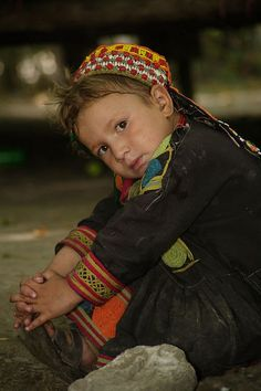Kalash Girl - Northern Pakistan. The Kalash are fascinating. They don't share DNA markers with any other races/peoples, and they are so isolated they have managed to preserve their culture.