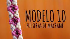 Tutorial de como hacer esta pulsera en macramé #macramé #diy #tutorial #tuto #doityourself #comosehace #tutoriales #youtube #macrame #manualidad #hilo #nudo #modelo #pulsera Hemp Bracelet Patterns, Macrame Patterns, Macrame Bracelets, Macrame Tutorial, Bracelet Tutorial, Macrame Jewelry, Wire Jewelry, Jewellery, Micro Macrame