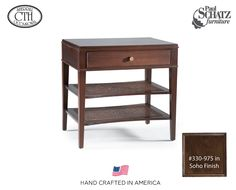 Drawer end table in the guest suite - #ContactSueAmos at #PaulSchatz. #AmericanDreamSOD