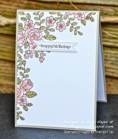 Love the different moods you get by varying the colour of Stampin' Up's gorgeous So Very Grateful stamp set!