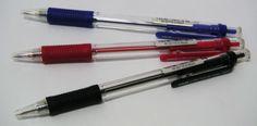 BOLIGRAFO LAKNOCK SN101 BROAD. Bolígrafo con punta de acero inoxidavle fina, de 1 mm. Cuerpo de plástico y empuñadora de caucho antifatiga.