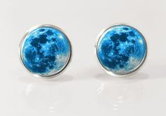 Blue moon earrings, perfect for your blue lady!