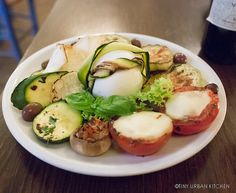 Grilled Vegetables and Buffalo Mozzarella from Etabli in Rome
