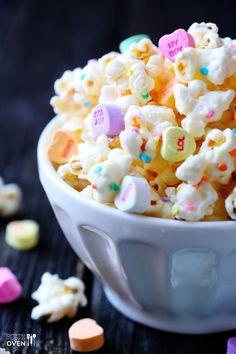 Valentine's White Chocolate Popcorn