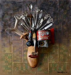 Barbara McIntyre's conceptual assemblage artist inspired by machinists, fine wood workers, photographers and creativity.
