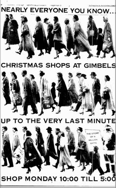 Gimbels' Christmas ad, December 1956 [The Pittsburgh Press]