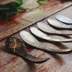 Dessert spoon hand-crafted Coconut shell wood by TheThailand