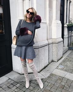 """2,214 Likes, 89 Comments - Laura Wills (@thefashionbugblog) on Instagram: """"Friday style in the cutest faux fur cuff sweater http://liketk.it/2tj3O #liketkit…"""""""