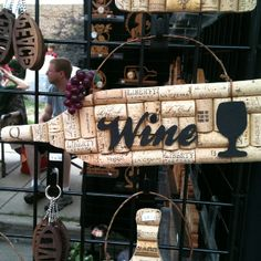 Craft with corks... could use wood, metal or even heavy cardstock for the words & cup shape