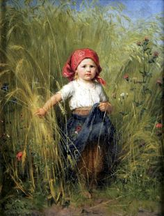 Young Peasant Girl, Heinrich Hirt. Germany (1841-1902)