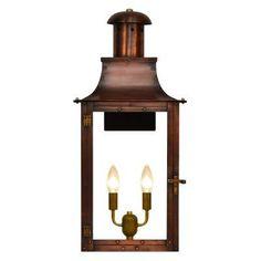 The Coppersmith Somerset SO Outdoor Flush Mount Lantern - SO-22W-AL