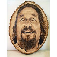 $300 The dude from The Big Lebowski. #pyrography #woodburning #kreepykentucky #thebiglebowski #thedude #folkart  #jeffbridges #weed #pot #marijuana   kreepykentucky.com