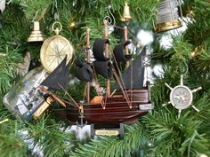 Captain Kidds Adventure Galley Christmas Tree Ornament