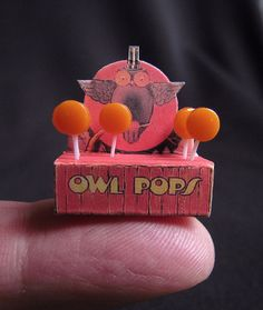 Dollhouse Owl Pops #Dollhouse #Owl #Pops #miniature #tiny