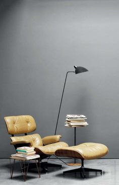 mes caprices belges: decoración , interiorismo y restauración de muebles: READING CORNER: EAMES LUNGE                                                                                                                                                                                 More