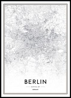 Tasteful black and white Berlin poster