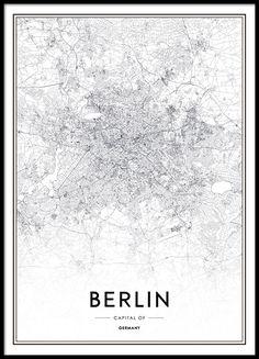 Stilvolles schwarz-weißes Berlin-Poster