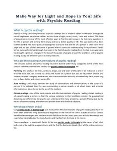 The fantastic science of psychic reading has been divided under many categories. Some of the most famous and effective mediums used by our