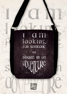 the Hobbit  Big shoulder bag  quote / the Hobbit / by FeerieDoll, $43.00