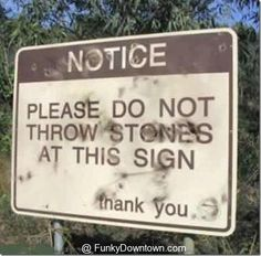 """""""He who is without sin among you, let him be the first to throw a stone at her."""" #sign"""