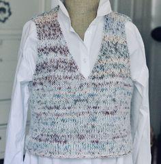 Lynhurtig vest i garnmiks - susanne-gustafsson. Knit Vest Pattern, Drops Design, Knitting Projects, Free Pattern, Crochet Patterns, Sweaters, How To Make, Clothes, Women