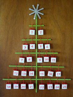 Advent Calendar For Kids Craft