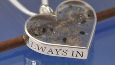 The hand engraving of a special commission with cremation ashes inclosed
