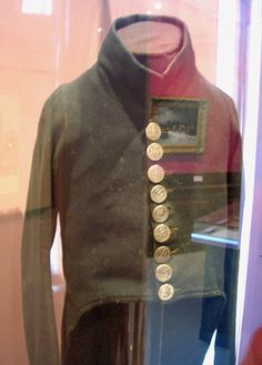 Original habit of an douanes clerk or prepose, Rotterdam 1812. On the shoulders are little buttons attached, telling that the coat originally had epaulettes.