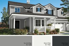 Grey Exterior Paint Color Pretty much perfect. Dark grey for hardyboard, not roof.