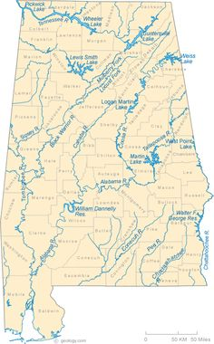 Map Of Alabama Includes City Towns And Counties United - Map of alabama cities and towns