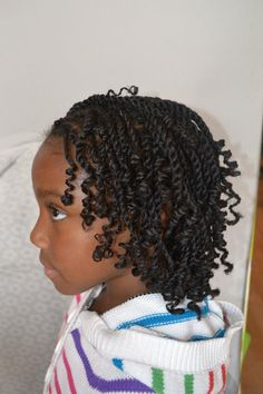 Two Strand Twists (Rodded) Shared By @kinkxstudio - http://community.blackhairinformation.com/hairstyle-gallery/kids-hairstyles/two-strand-twists-rodded-shared-kinkxstudio/ #kidshairstyles