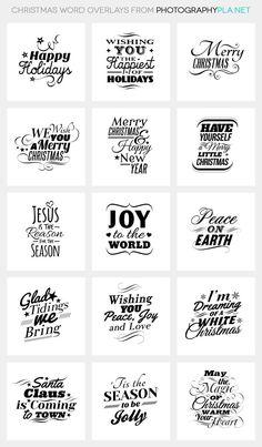 Christmas Word Overlays