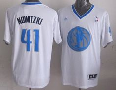 6d066ac7f Mavericks  41 Dirk Nowitzki White 2013 Christmas Day Swingman Stitched NBA  Jersey
