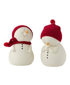 Look at this #zulilyfind! Big Belly Laugh Snowman Figurine Set by Snowpinions #zulilyfinds