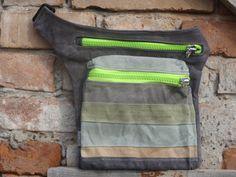 Hüft- & Gürteltaschen - Hüfte  Tasche Gewachsten Canvas Streifen - ein Designerstück von koatye bei DaWanda